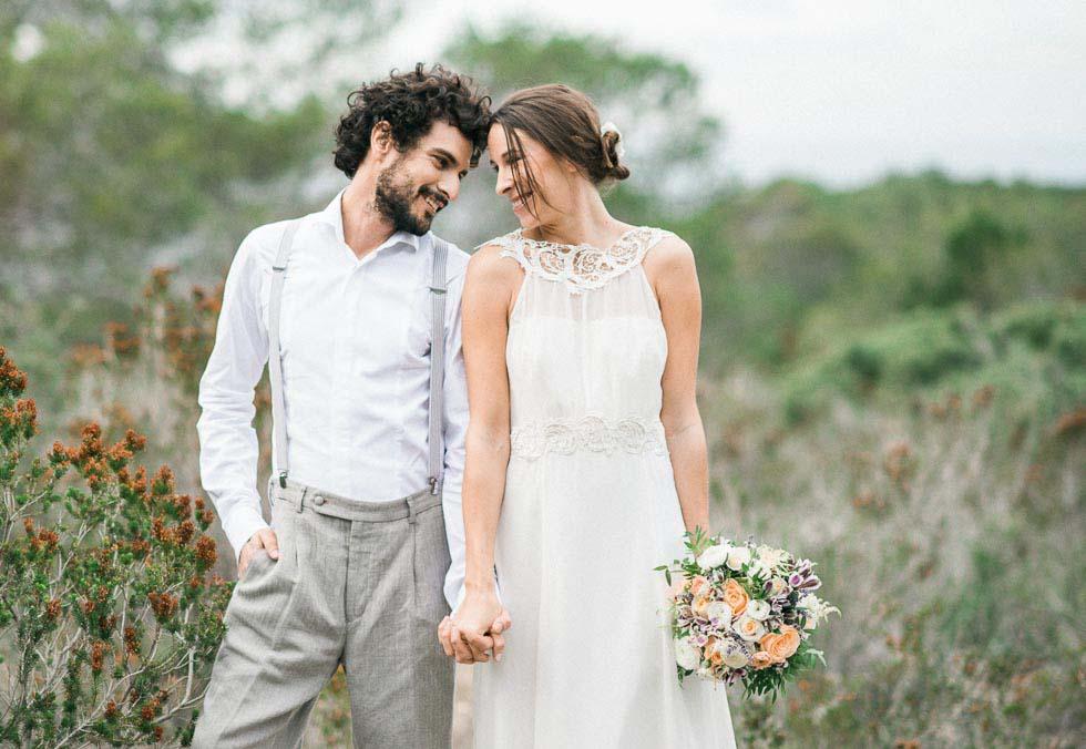 Konzept Hochzeit Freien