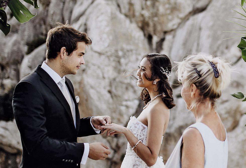 Konzept Hochzeit zu zweit