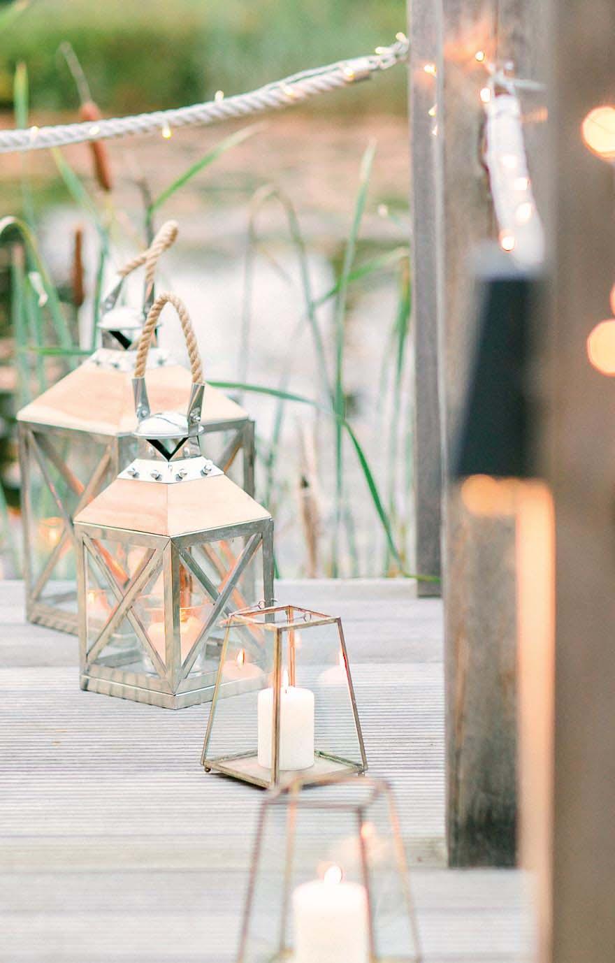 Laternen Hochzeitsdeko