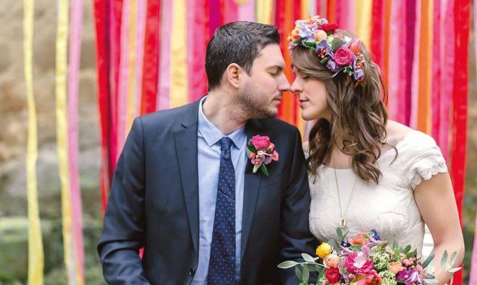 Brautpaar Hochzeitsfoto Trauhintergrund