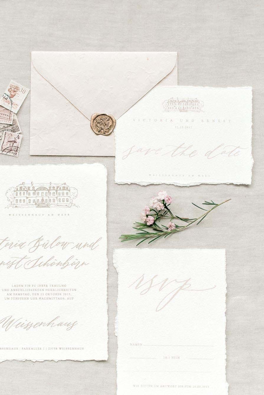 Hochzeitseinladung Calligraphie