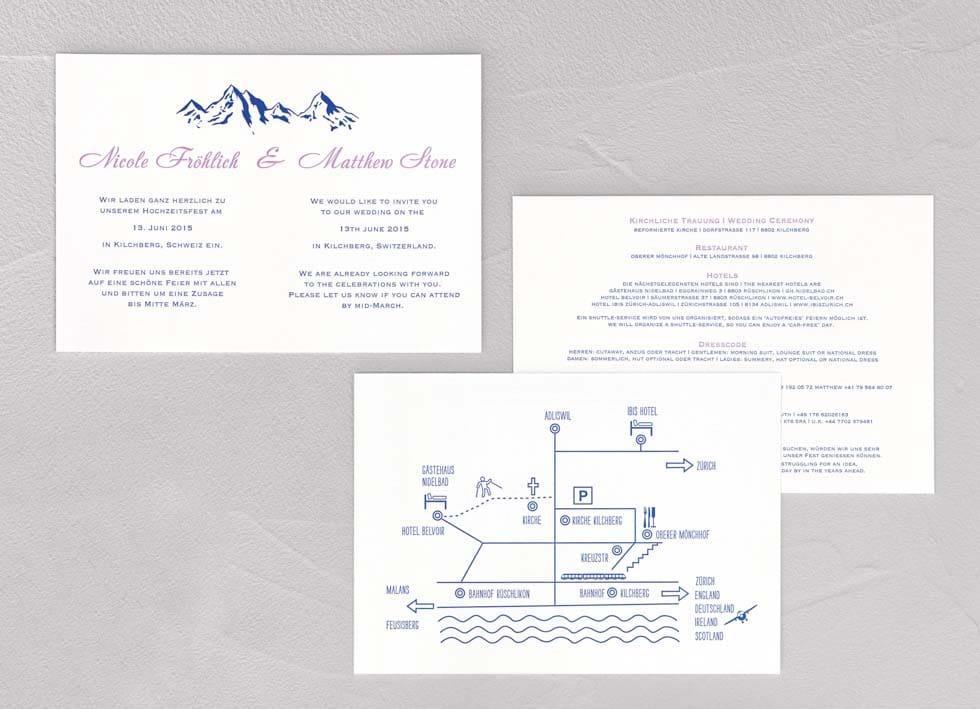 Einladung Hochzeit Berge