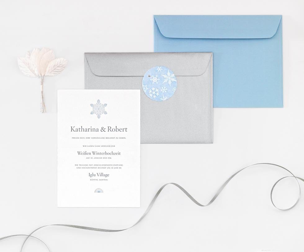 Einladung Hochzeit Winter