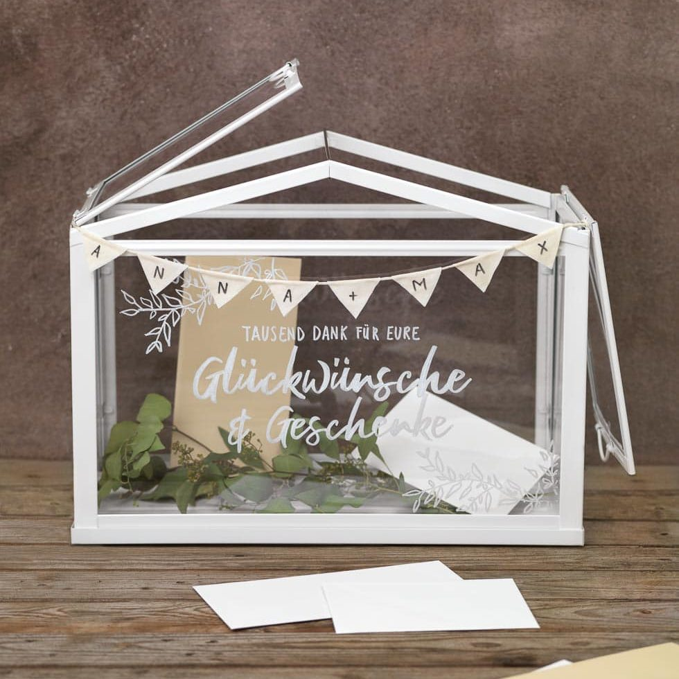 Kartenbox Hochzeit Glas.Diy Gewachshaus Kartenbox Fur Die Hochzeit