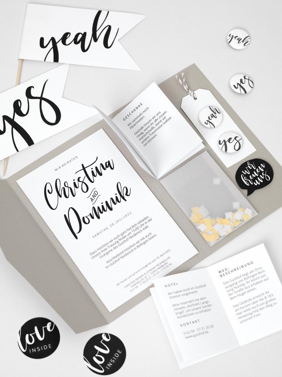 Hochzeitseinladung Pocket fold