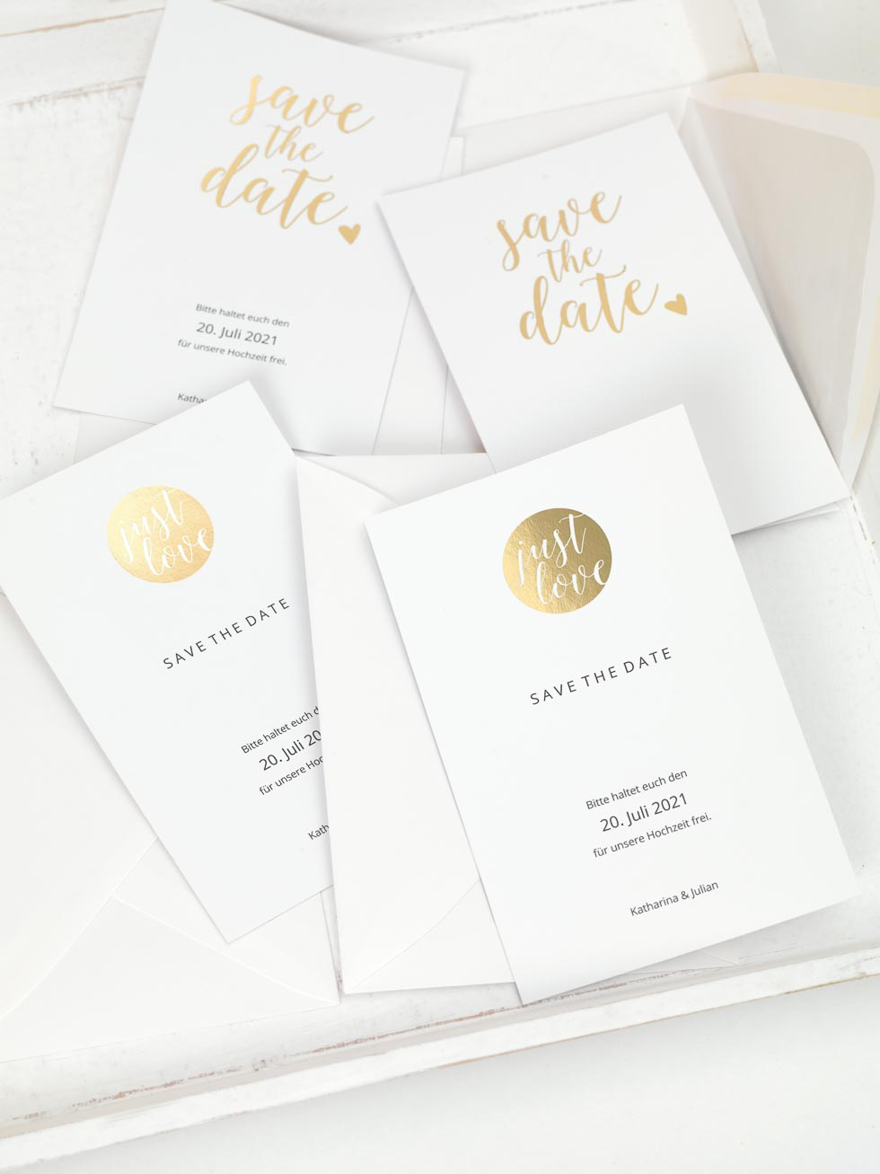 Save the Date DIY Gold