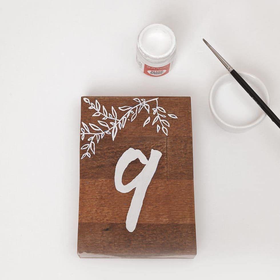 Tischnummer Vorlage Holz