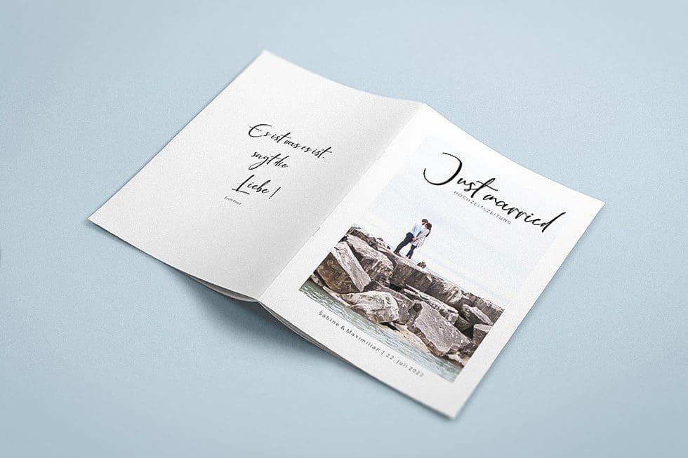 Hochzeitszeitung Ideen Umschlag