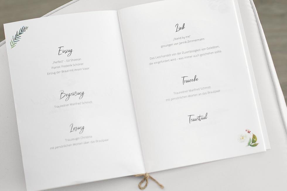 Kirchenheft Hochzeit selbst gestalten