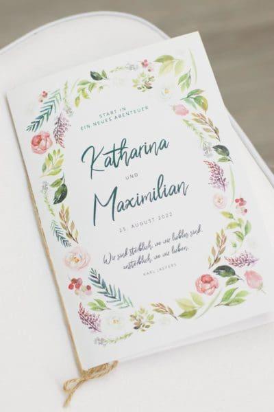 Kirchenheft Hochzeit Vorlage Word zum Download