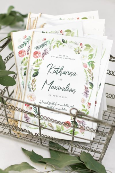 Kirchenheft Hochzeit Vorlage für Word