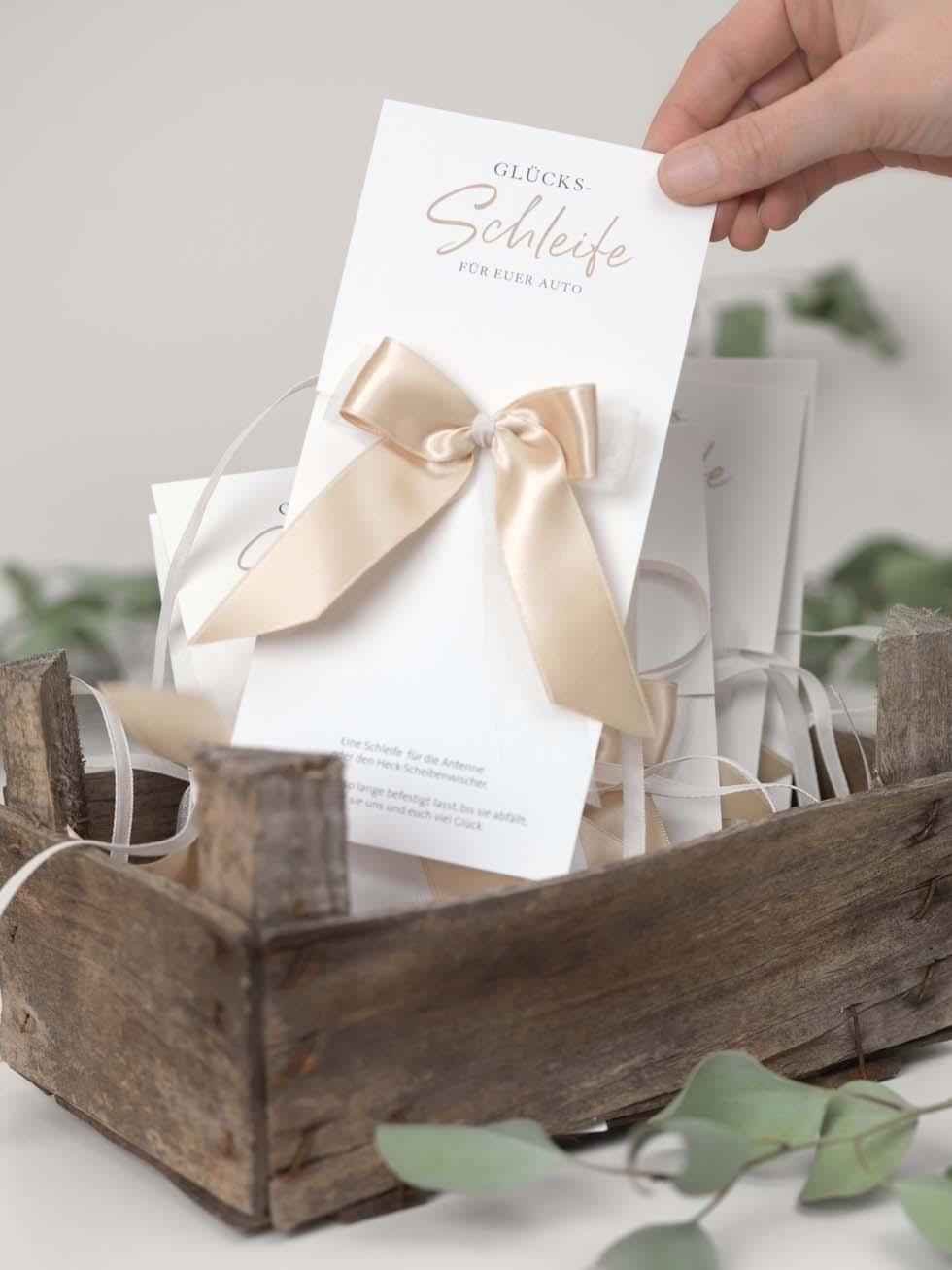 Autoschleifen Hochzeit Karten Vorlage