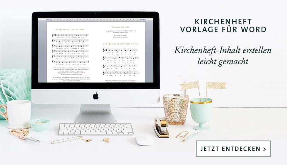 Kirchenheft Vorlage Word downloaden