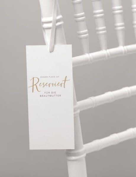 Reserviert-Schild Hochzeit