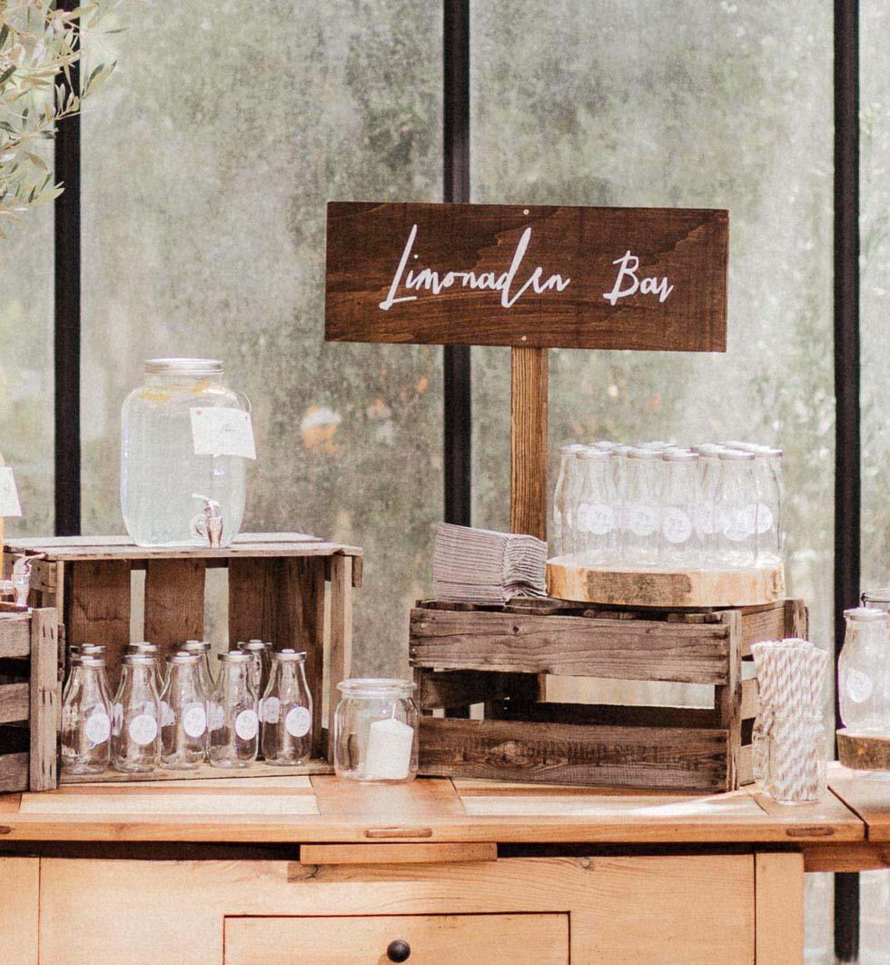 Hochzeitsschilder DIY Bar Holz
