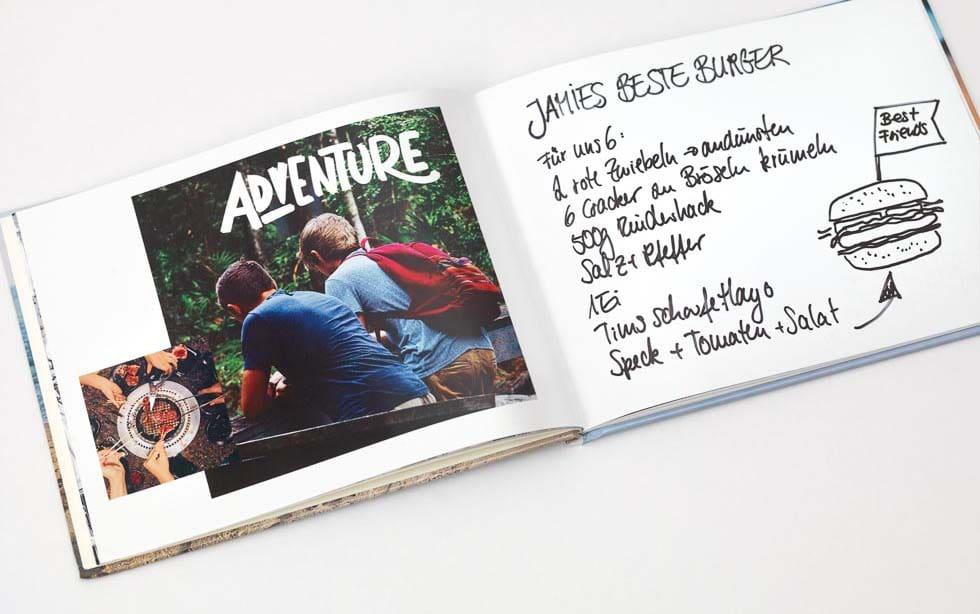 Junggesellenabschied Album mit Rezept