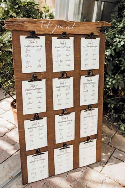 Tischfinder Hochzeitsschilder Holz