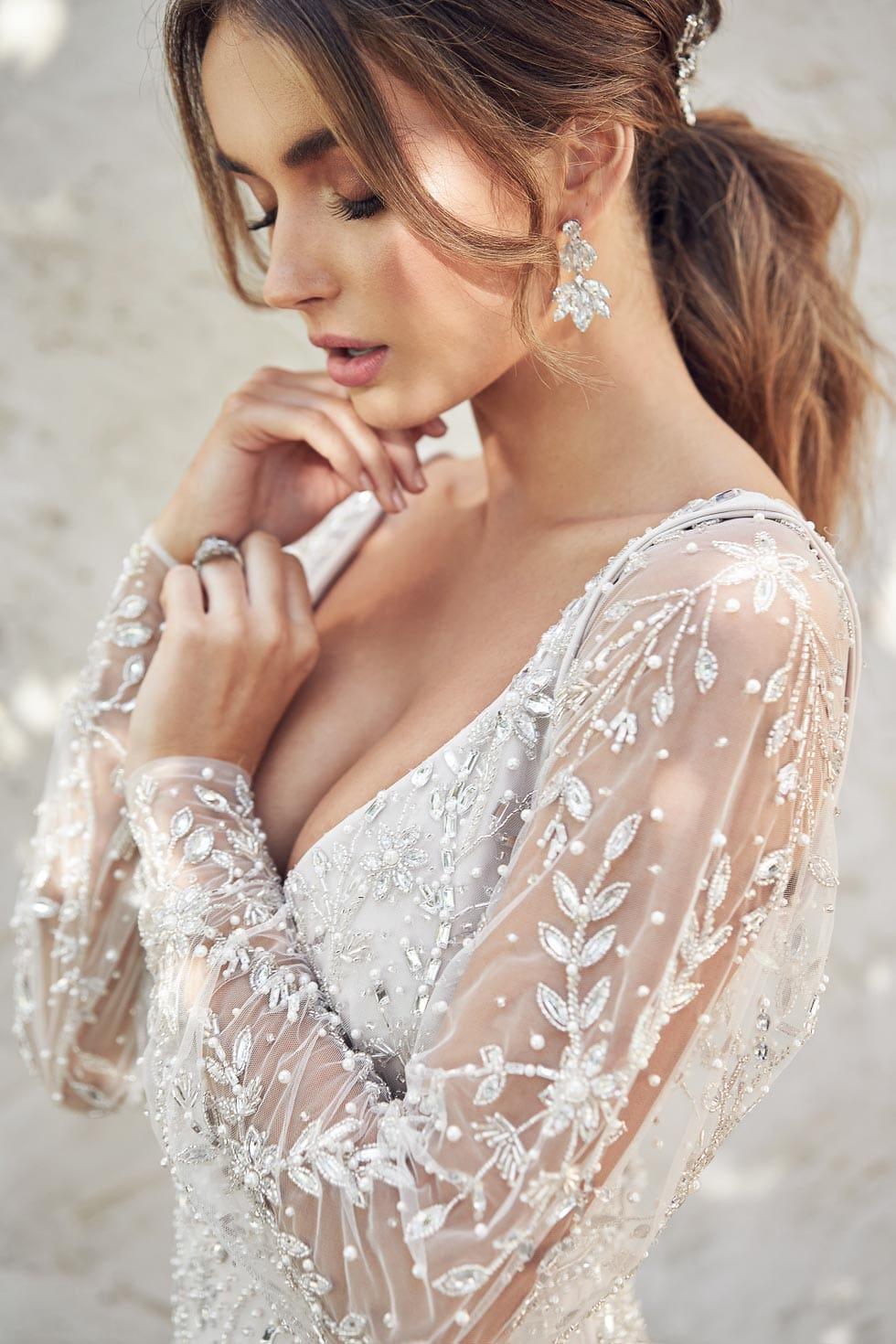 Brautkleid mit Ärmel Anna Campbell