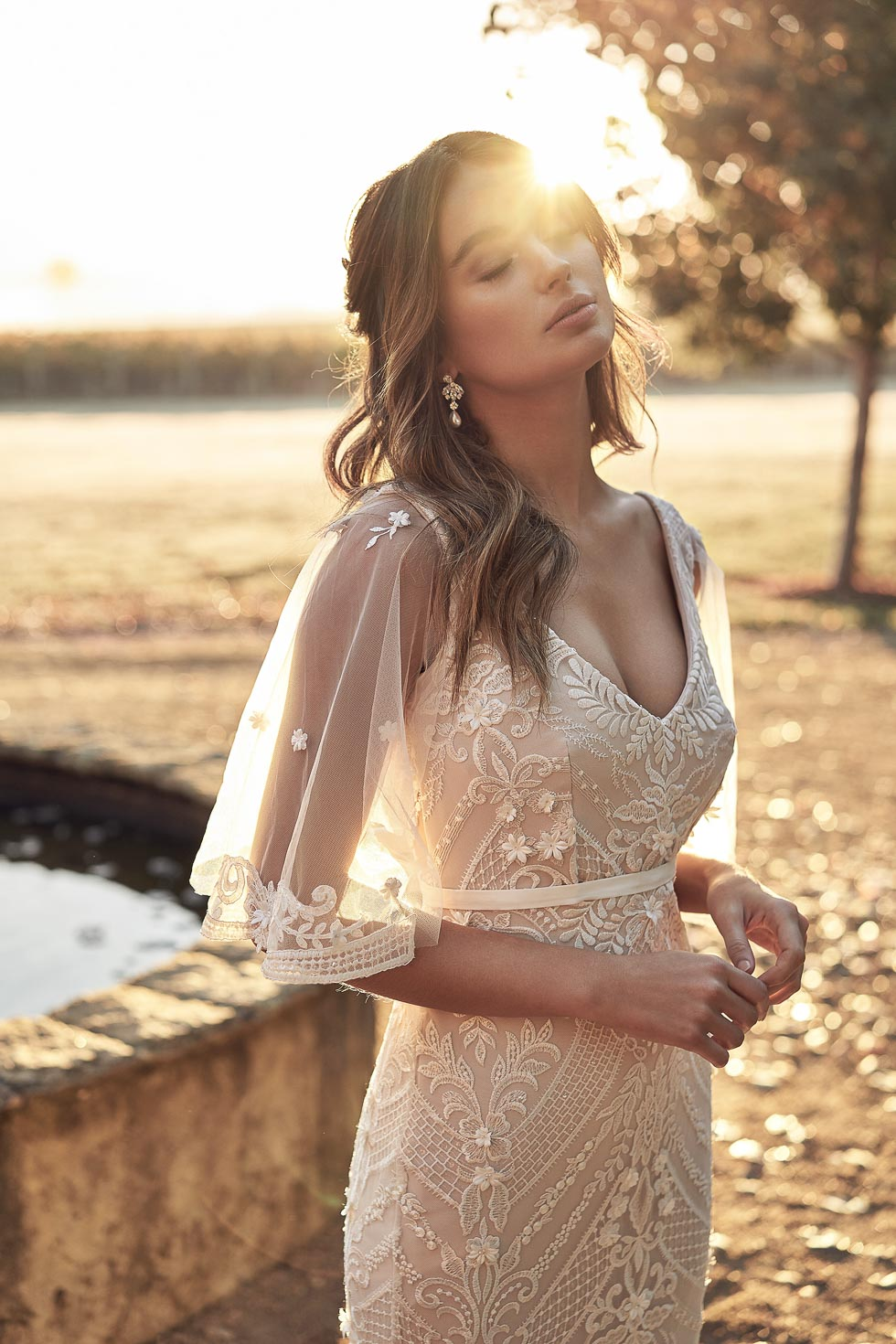 Brautkleid-Farbe Nude Lexi Anna Campbell