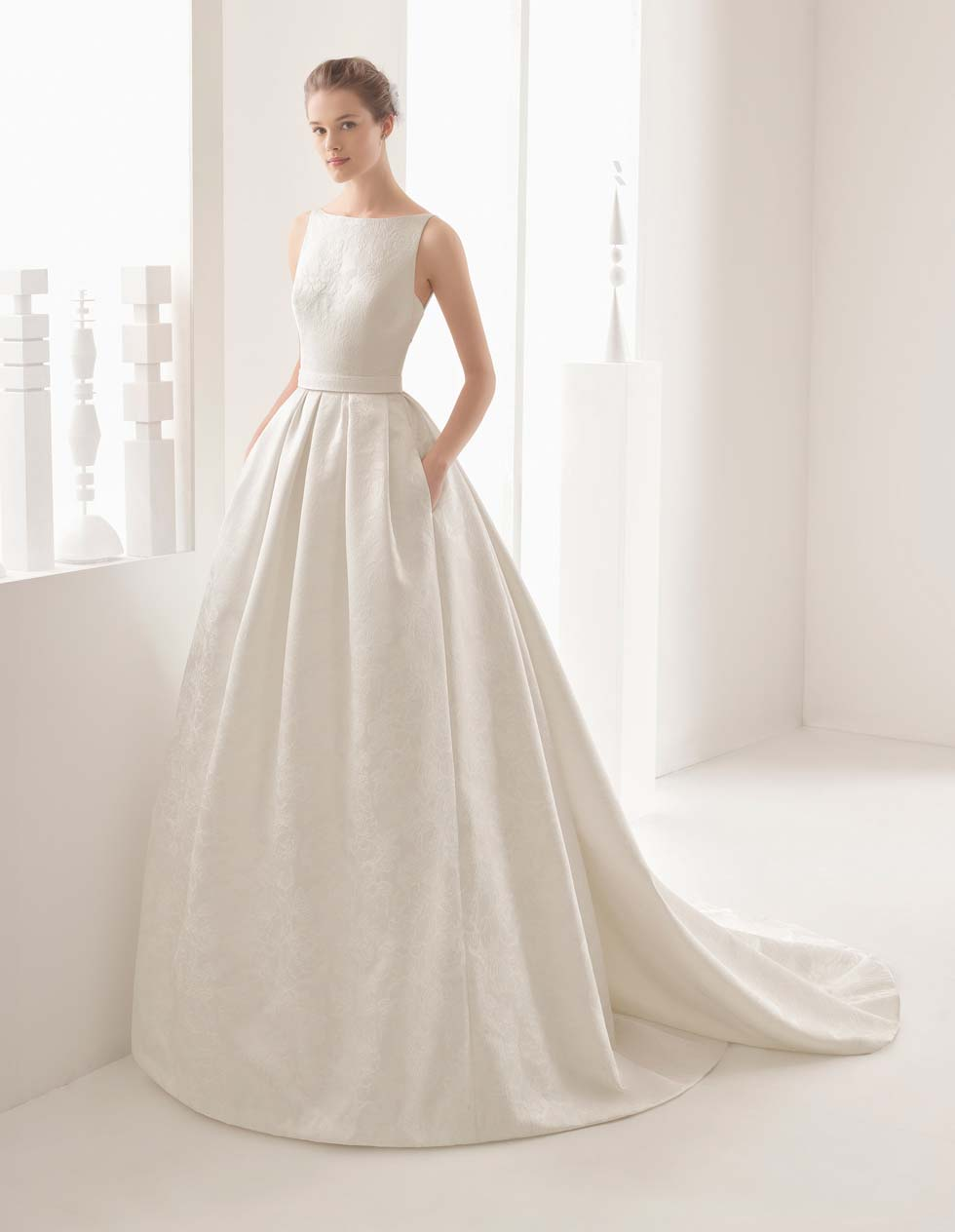 Brautkleid Brokat Rosa Clara