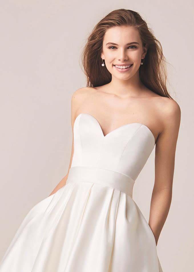 Brautkleid Herz Ausschnitt
