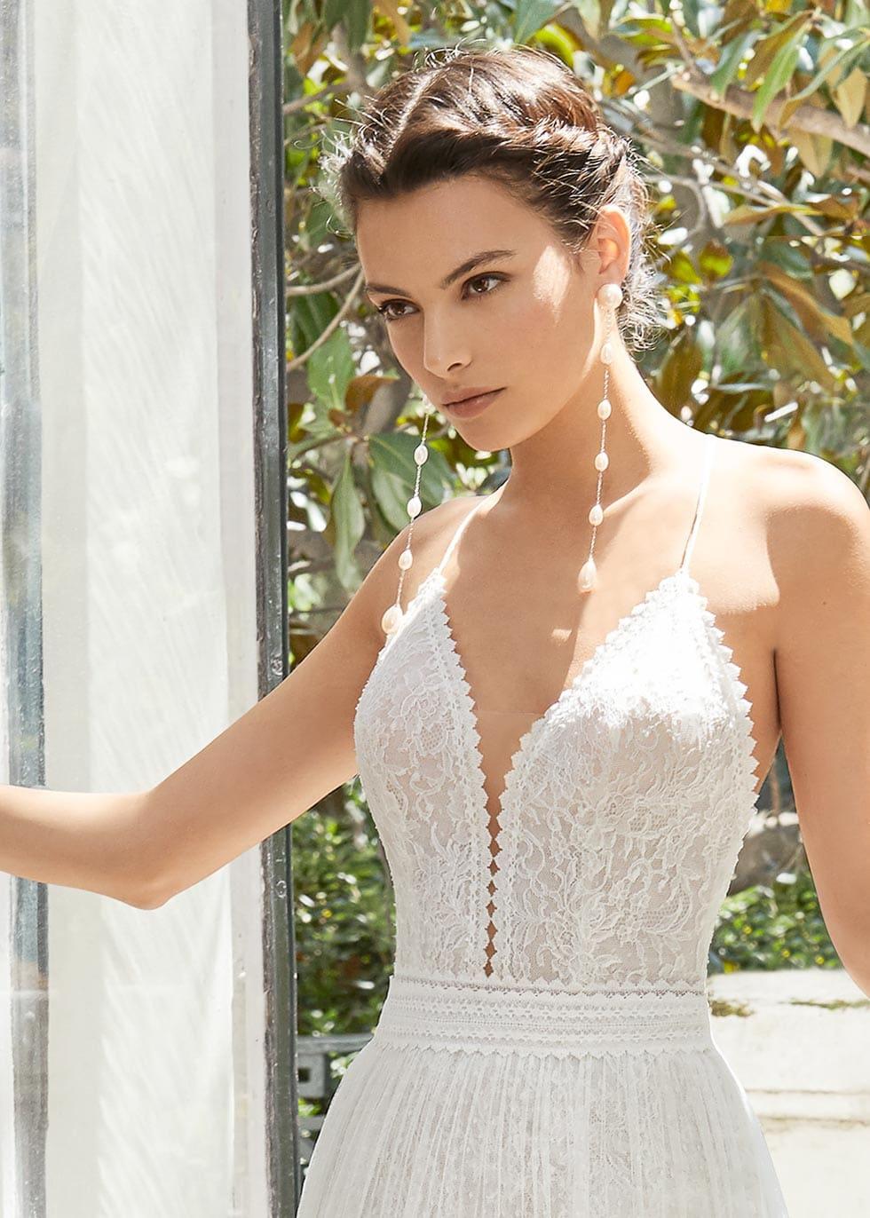 Brautkleid Träger Rosa Clara Couture