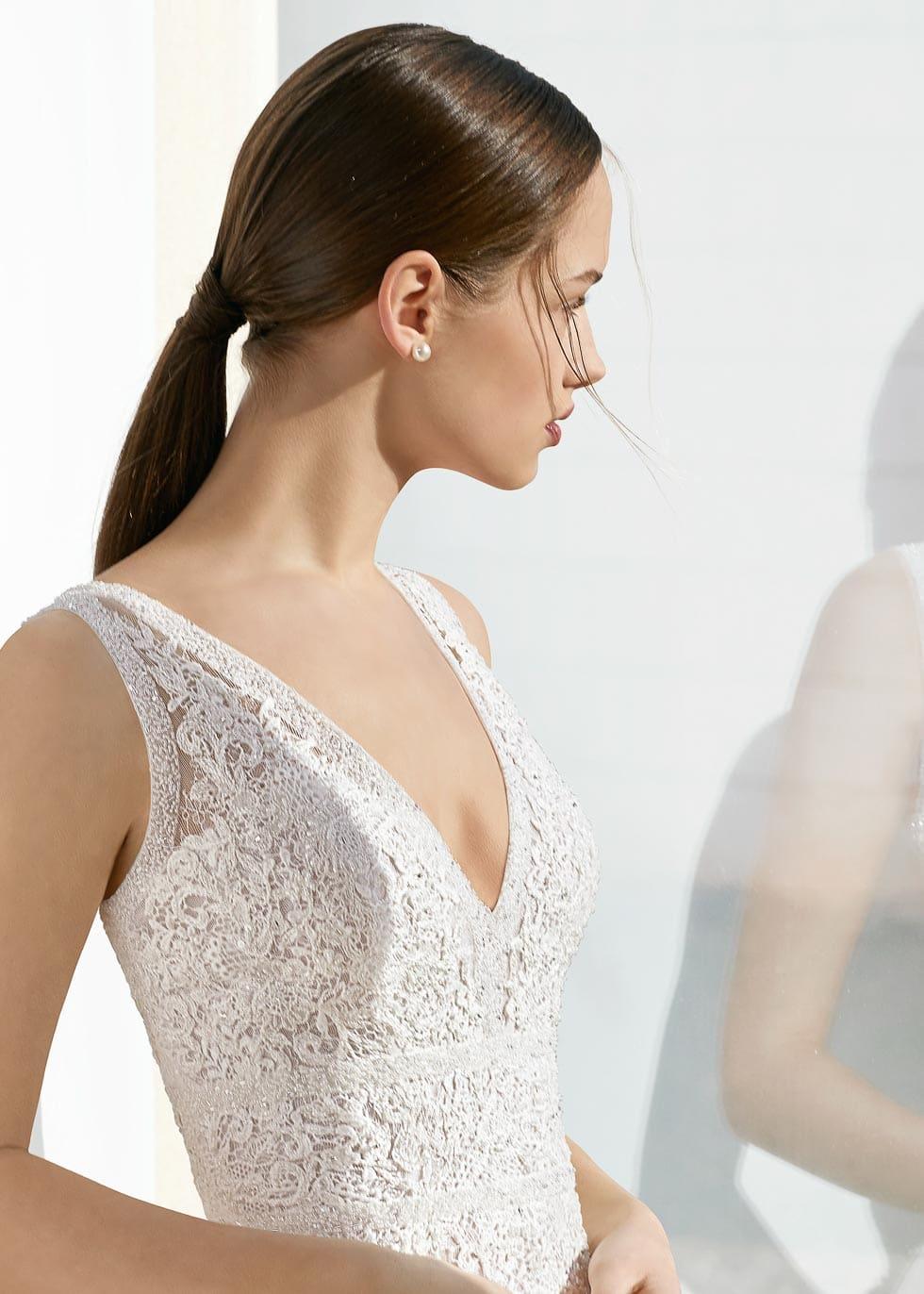 Brautkleid mit Spitze Rosa Clara Soft