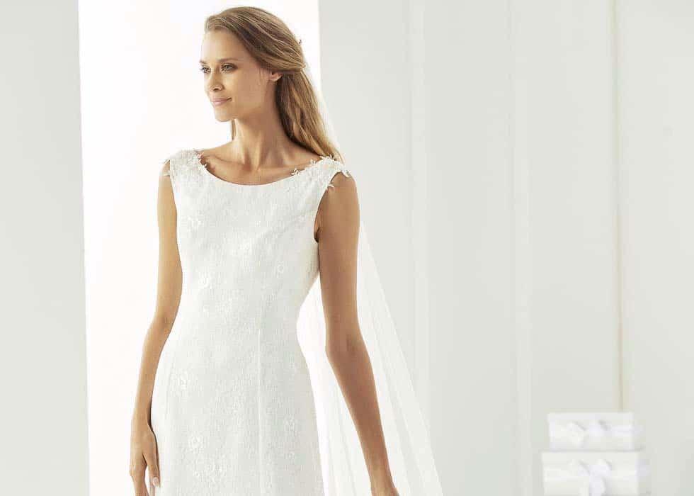 Brautkleid übergangslose Taille Bianco Events
