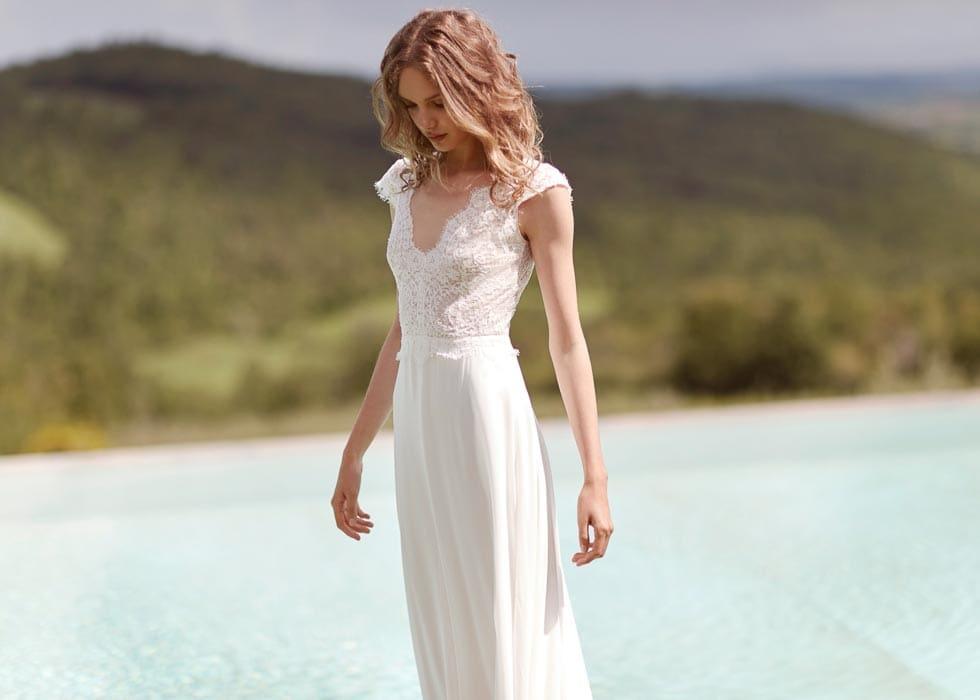 Brautkleid natürliche Taille Anna Kara
