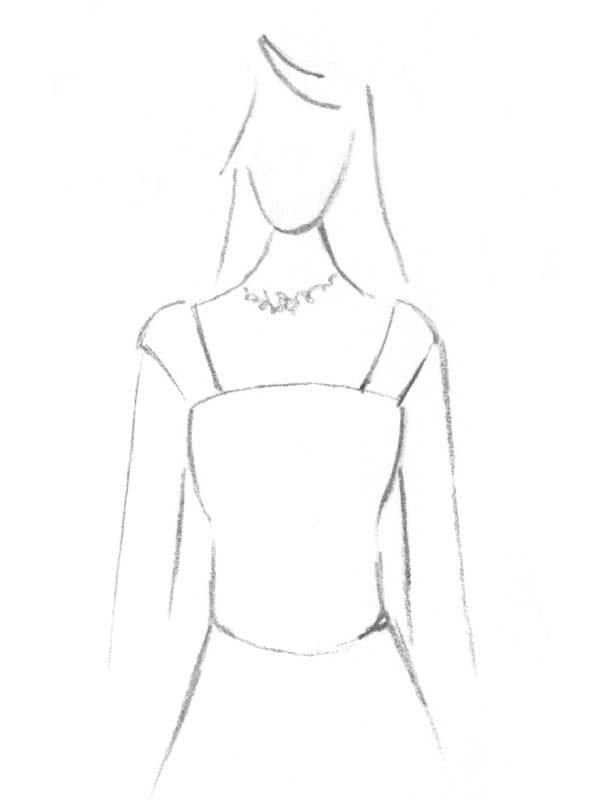Brautkleid Carré Ausschnitt