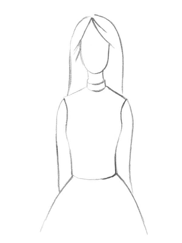 Brautkleid Ausschnitt hoch geschlossen