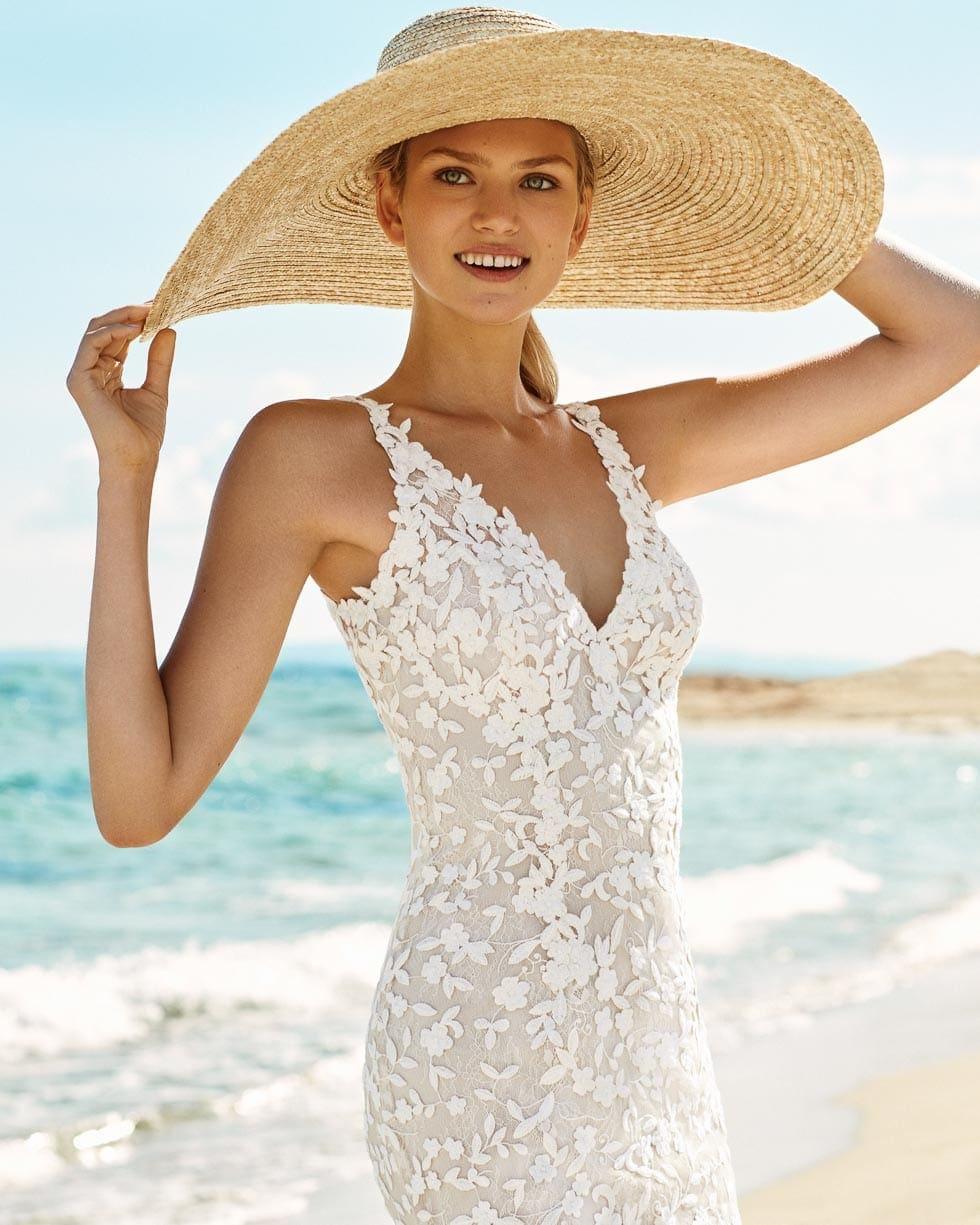 Hochzeitskleid Gazela Aire Barcelona Beach