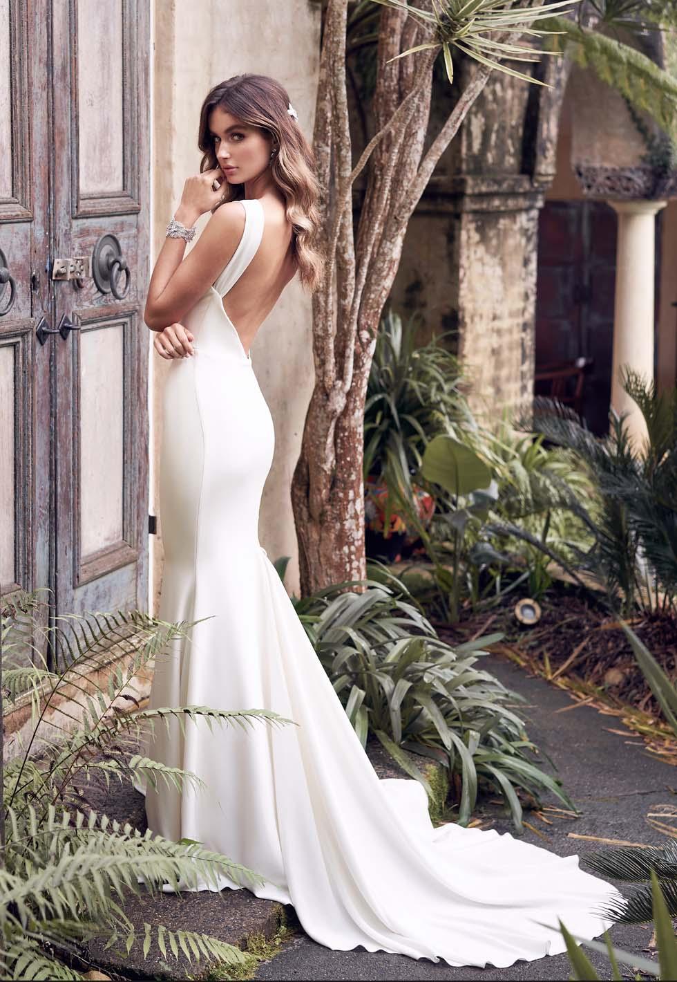 Brautkleid Farbe Eierschale Brautkleid-Farbe Eierschale Anna Campbell