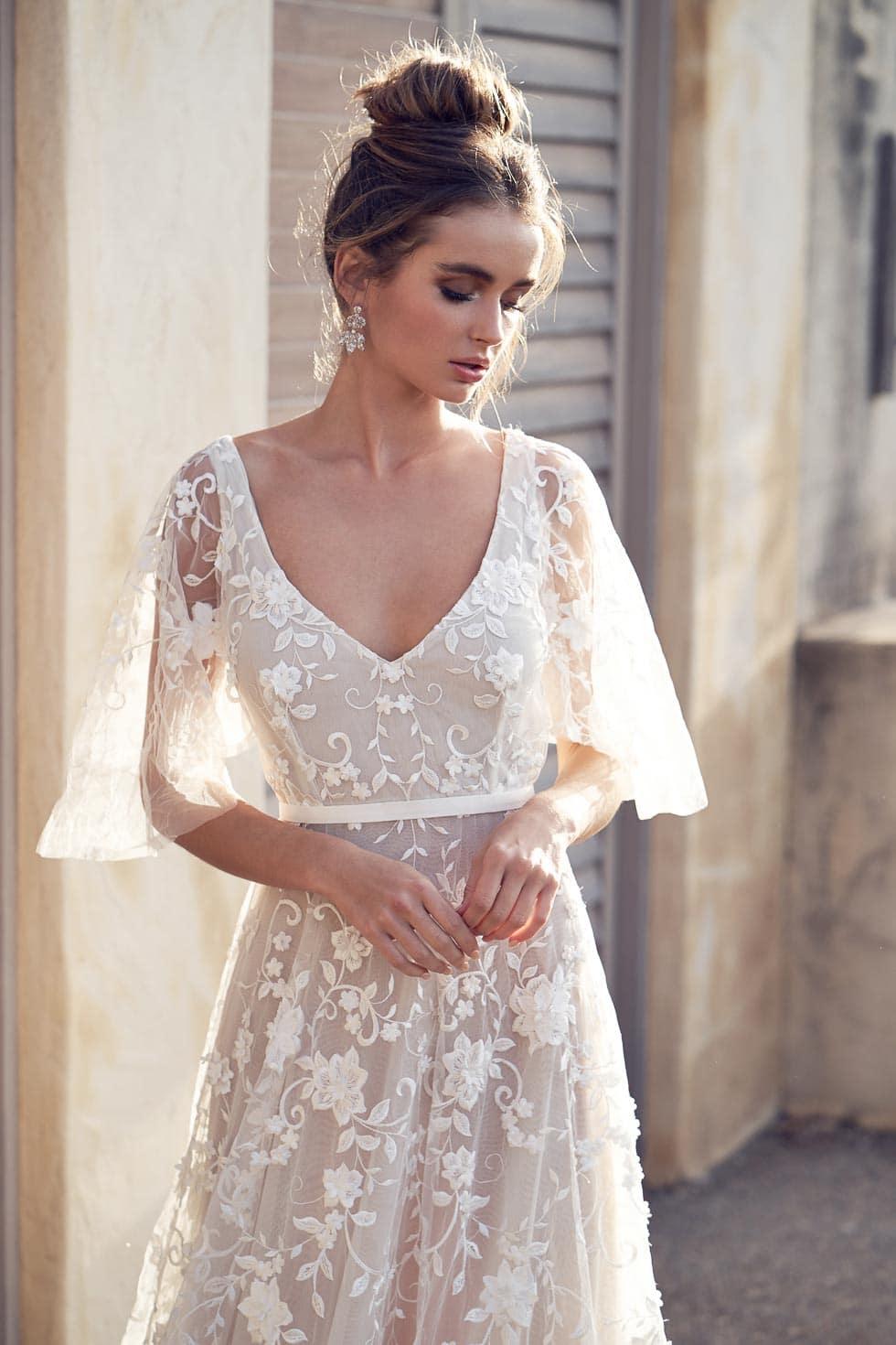 Hochzeitskleid mit Baumwolle Spitze Anna Campbell