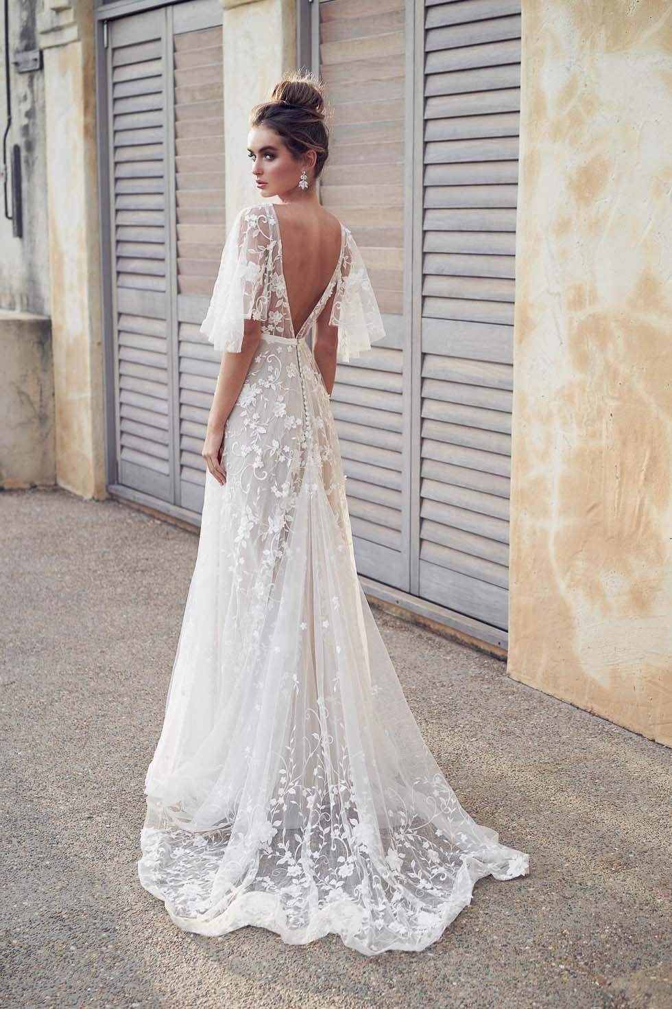 Brautkleid mit Baumwolle Spitze Anna Campbell