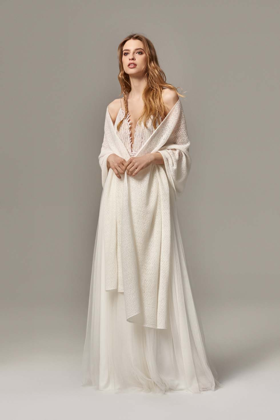 Schal für Brautkleid
