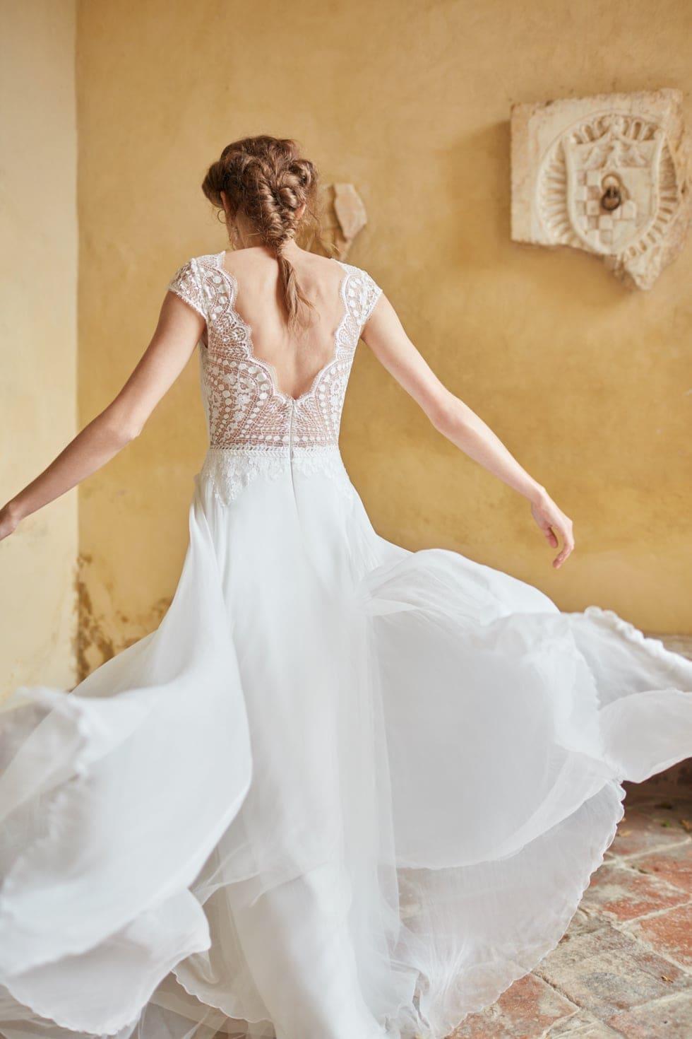 Boho Hochzeitskleid mit Spitze Anna Kara