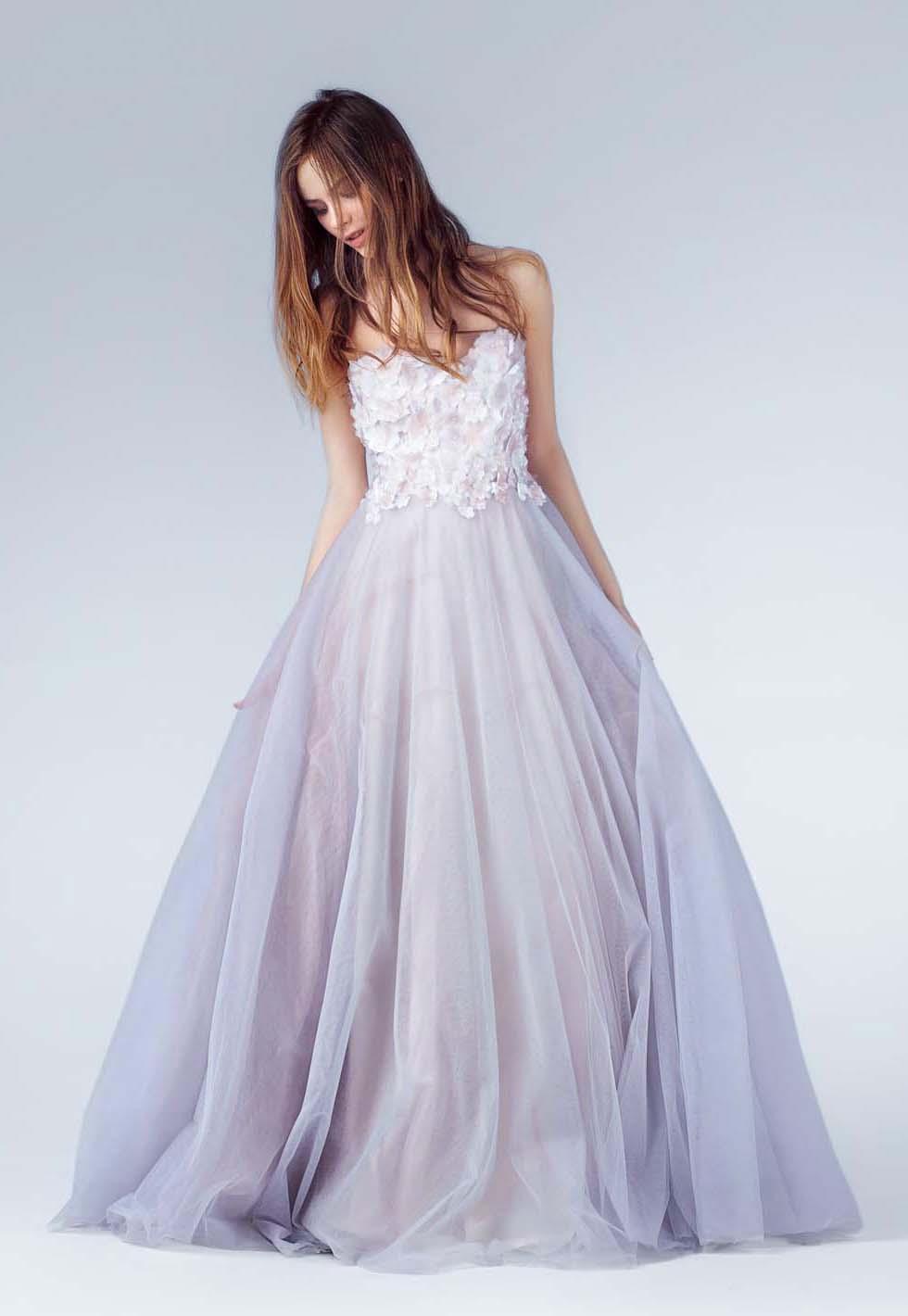 Brautkleid-Farbe Flieder Yoo Studio