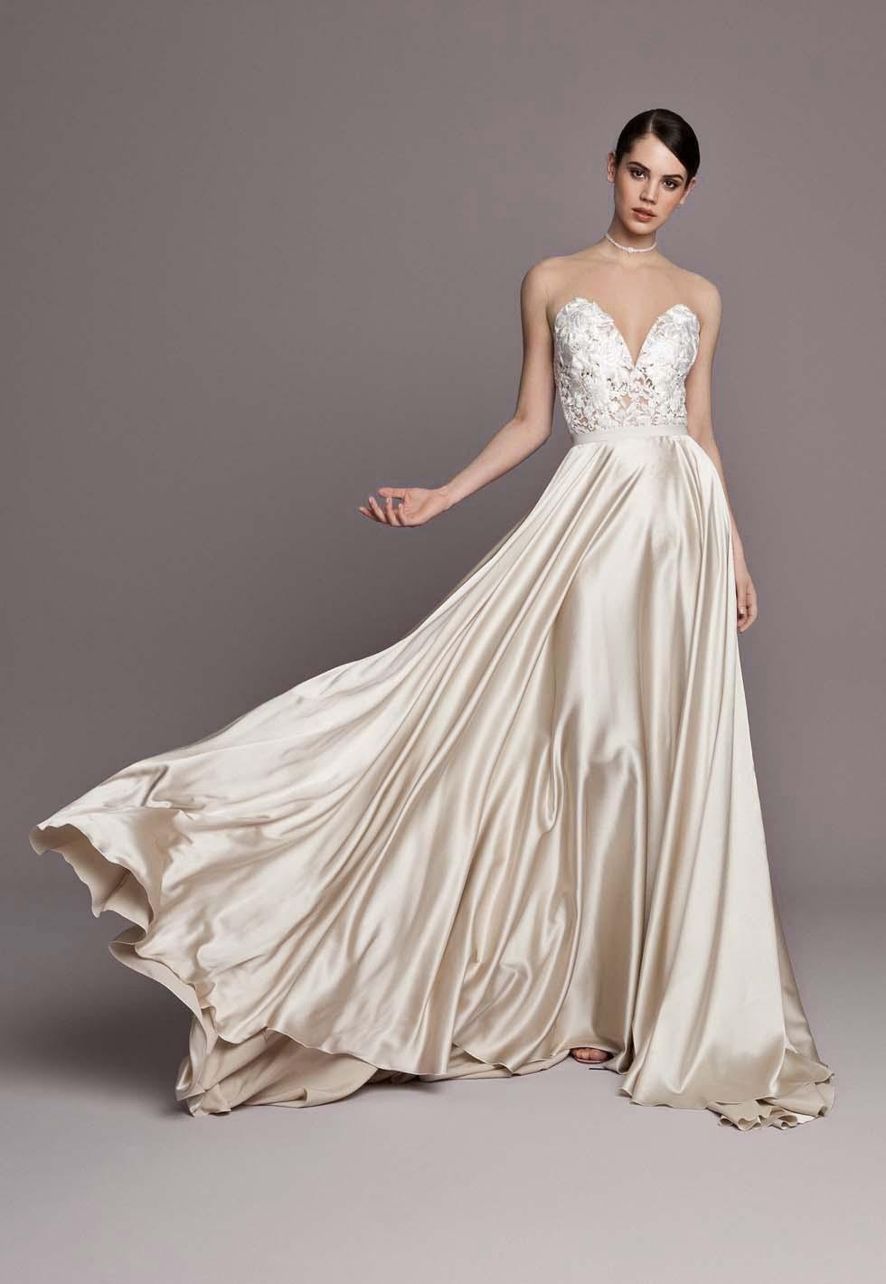 Brautkleid- Farbe Champagner Daarlana
