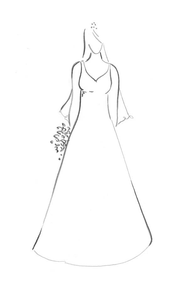 Brautkleid Form A-Linie