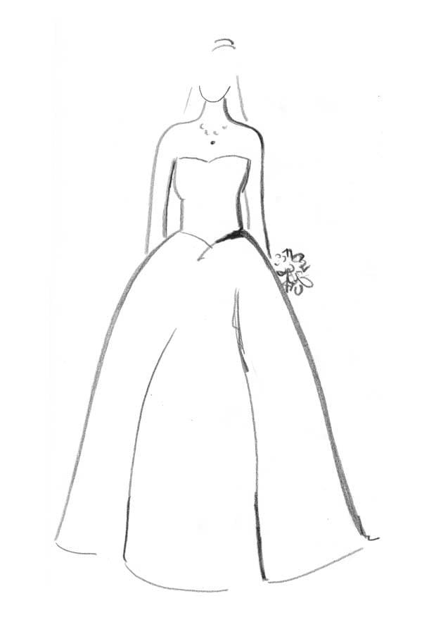 Brautkleid Form Duchesse