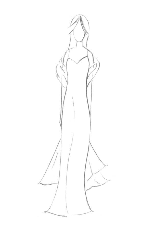 Brautkleid Form Etui