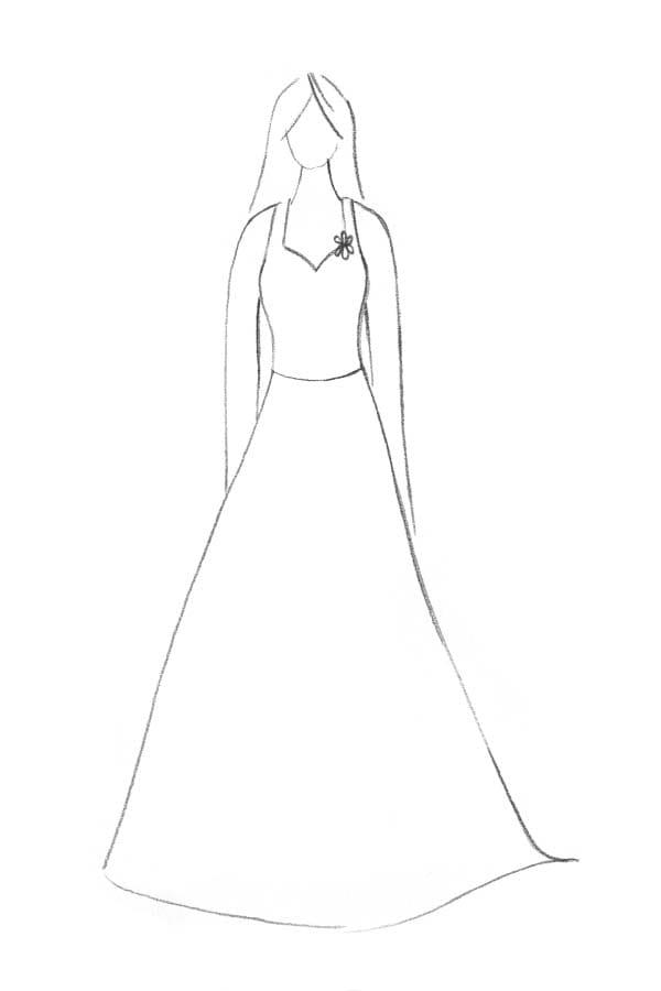 Brautkleid Form Zweiteiler