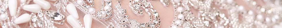 Brautkleid Stoffe Perlenstickerei