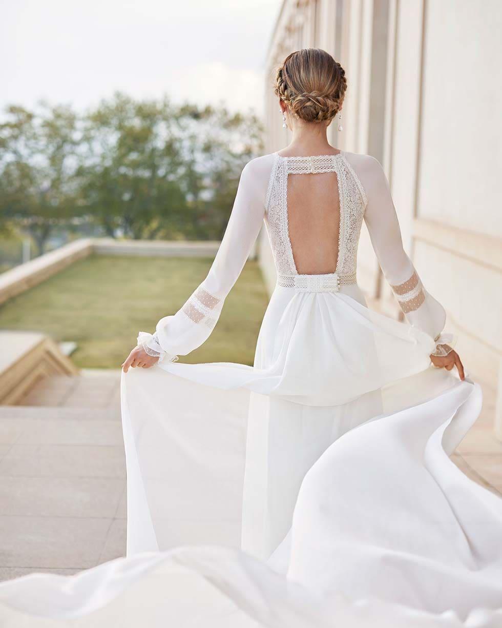 Brautkleid mit Schleppe Rosa Clará Couture