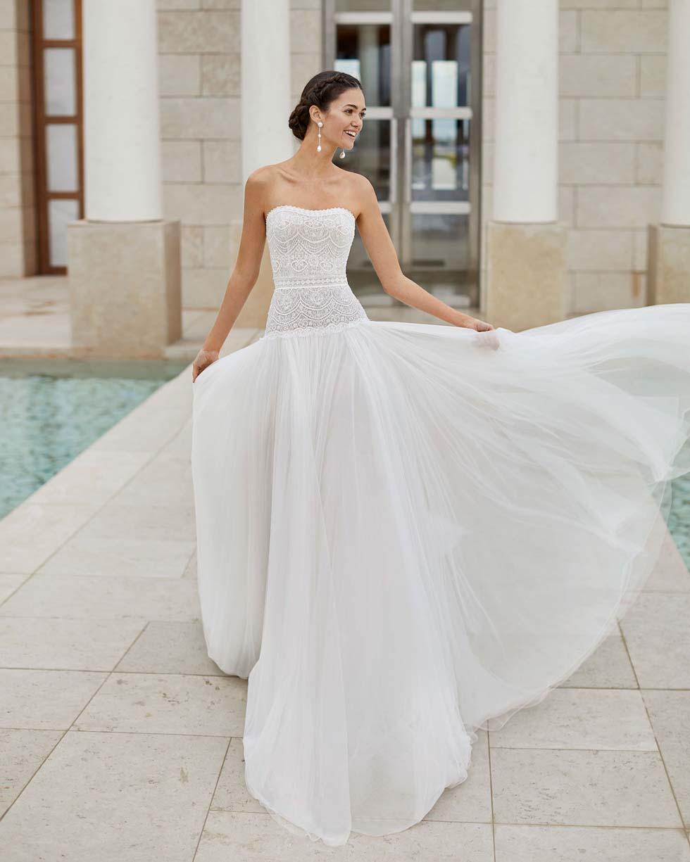 Brautkleid mit Tüllrock Rosa Clará Couture