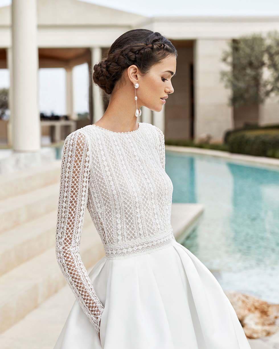 Brautkleid Boho Senna Rosa Clará Couture