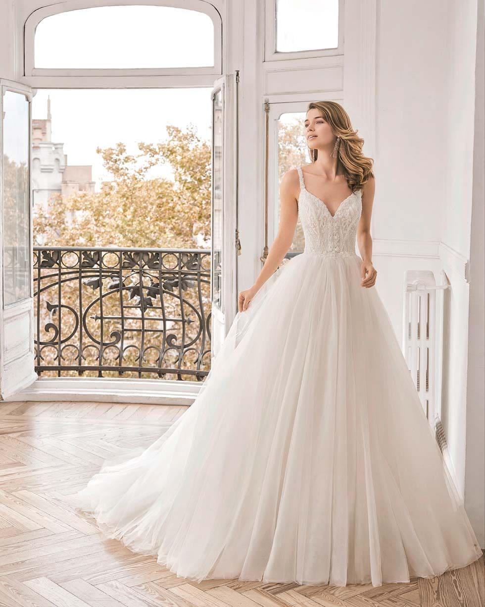 Brautkleid Prinzessin Stil Novela Aire Barcelona