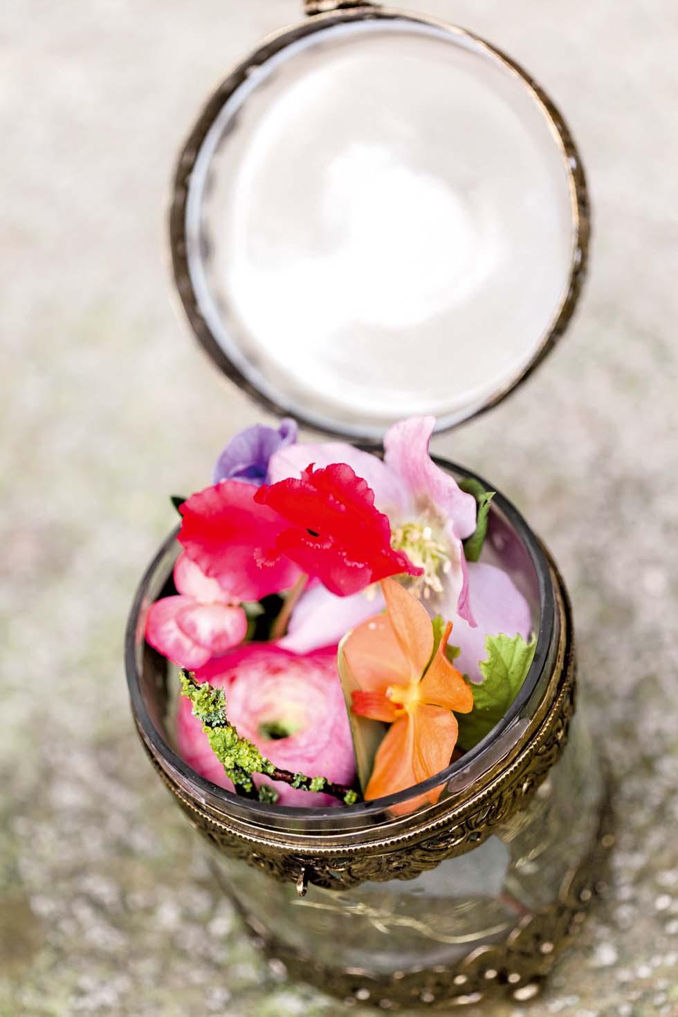 Blumen Ringkissen bunt