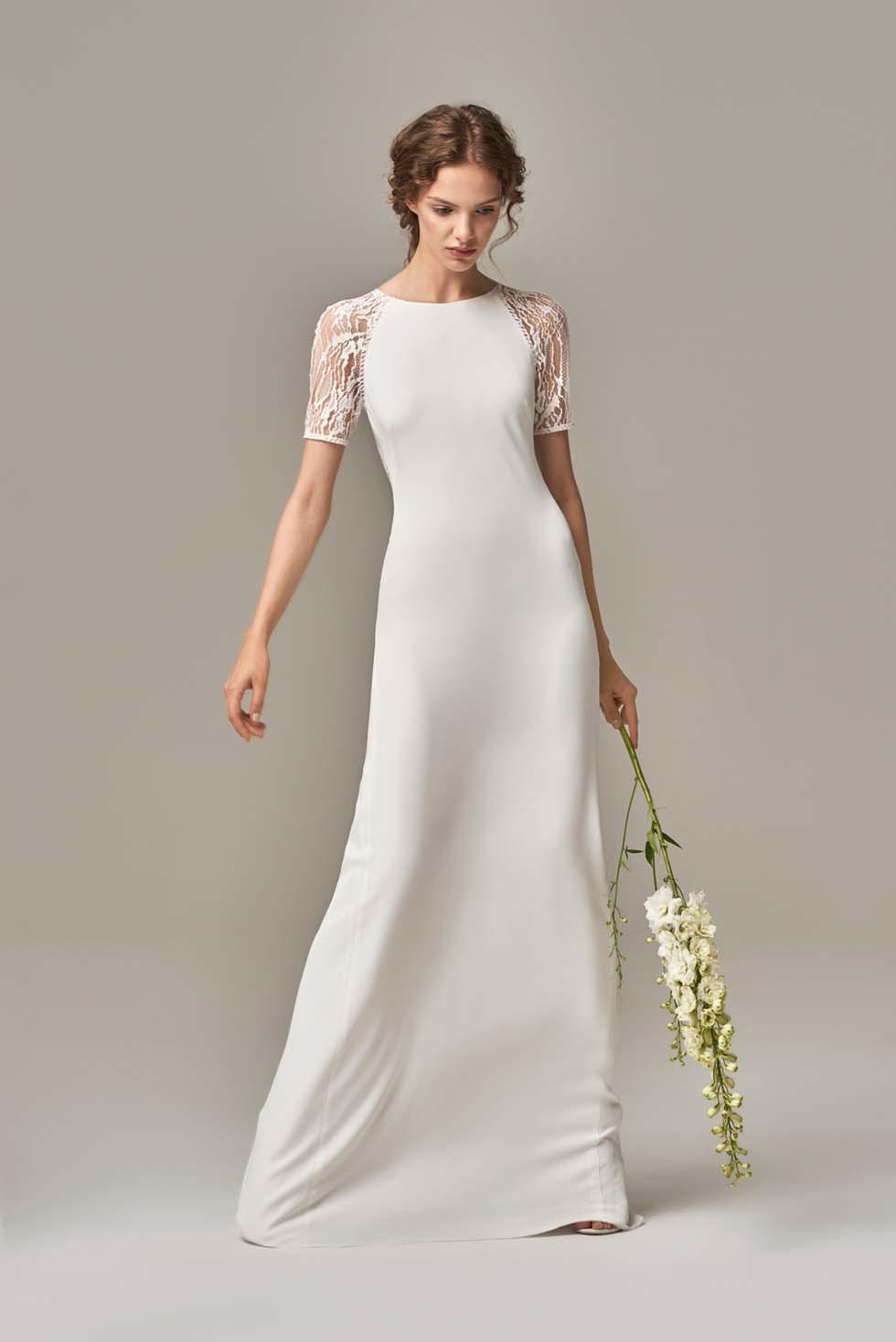 Brautkleid mit kurzen Ärmel Anna Kara